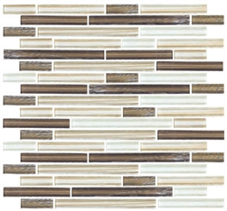 Linear Glass Tile Ga4007 Bamboo Linen Glass Tile Linear Strips Sticks Mosaic Glossy